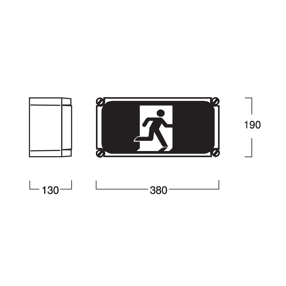 weatherproof exit sign led