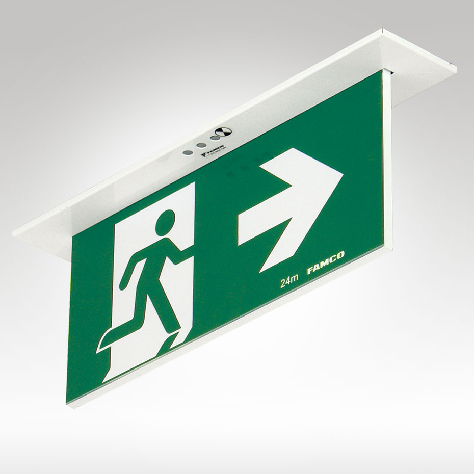 Mirage Led Exit Recessed Famco