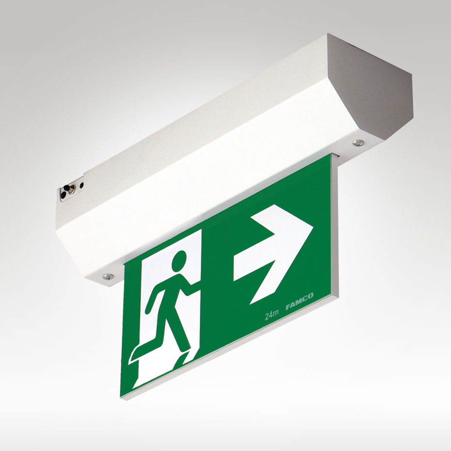Mirage Led Exit Surface Mounted Famco