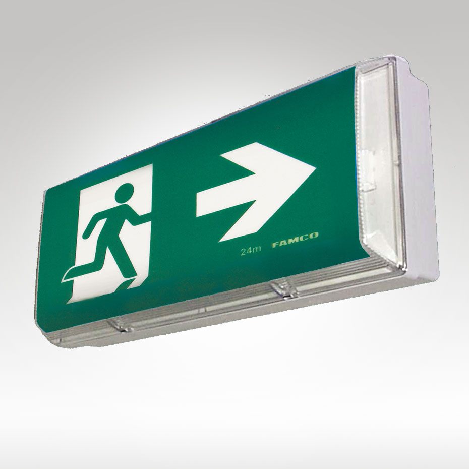 Weatherproof Exit Sign Ip65 Famco