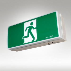 Exit signs famco utility led exit mozeypictures Choice Image